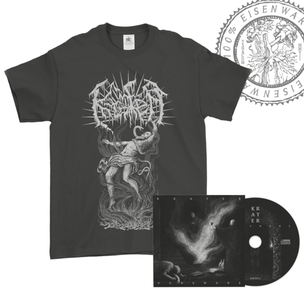"Bundle: Venenare Digi-CD + T-Shirt ""Vortex"" - size ""L"""